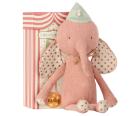 Maileg Circus Friends Elephant With Hat Rose