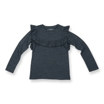 How To Kiss-a Frog Frill Jumper Dark Grey