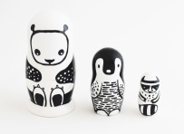 Wee Gallery Set of 3 Nesting Dolls (Panda)
