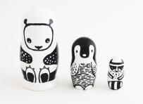 Wee Gallery Set of 3 Nesting Dolls (Panda)