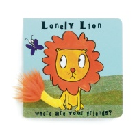 Jellykitten Lonely Lion Board Book