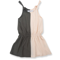 How to Kiss-a Frog Haidi Dress Powder/Dark Grey