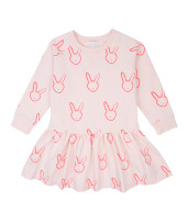 Livly Sweatshirt Dress Pink Bunny