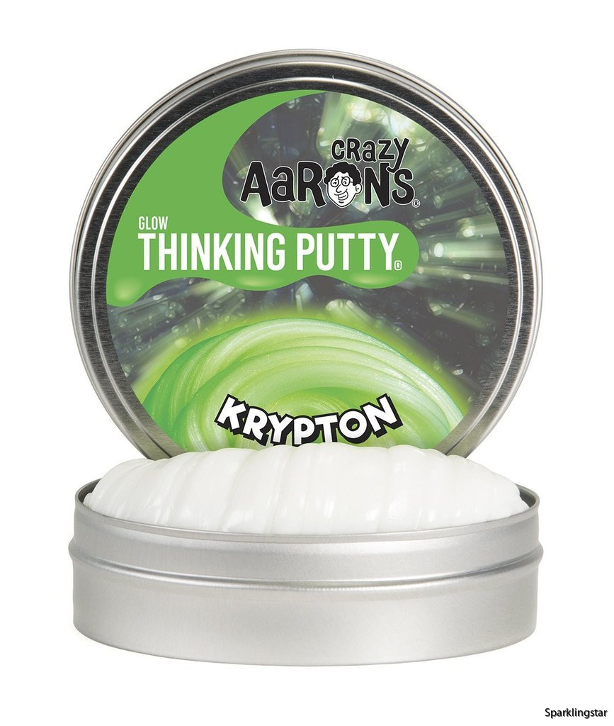 Crazy Aarons Thinking Putty Krypton