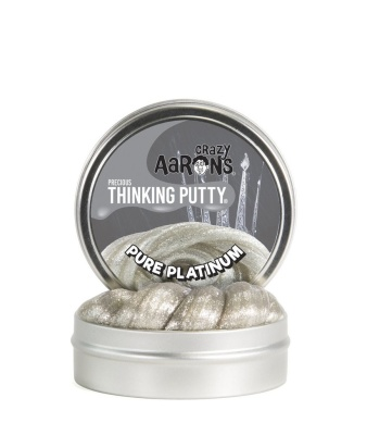 Crazy Aarons Thinking Putty Pure Platinum - Crazy Aarons Thinking Putty Pure Platinum
