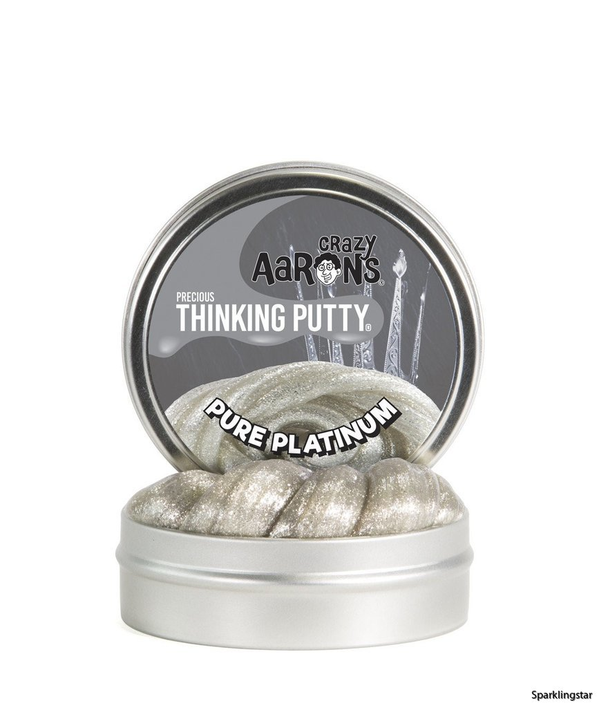 Crazy Aarons Thinking Putty Pure Platinum