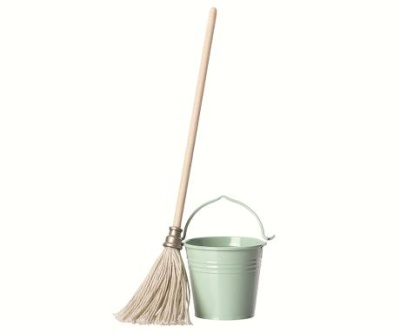 Maileg Bucket And Mop - Maileg Bucket And Mop