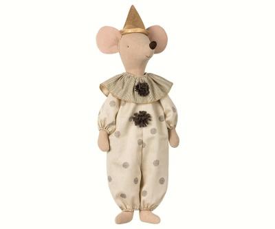 Maileg Cirkus Clown Maxi Mouse Black - Maileg Cirkus Clown Maxi Mouse Black