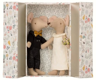 Maileg Wedding Mice Couple In Box - Maileg Wedding Mice Couple In Box