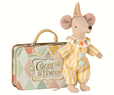 Maileg Clown In Suitcase Big Brother Mouse - Maileg Clown In Suitcase Big Brother Mouse