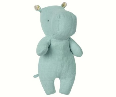 Maileg Safari Friends Little Hippo Aqua - Maileg Safari Friends Little Hippo Aqua
