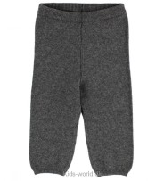 Wheat Knit Trousers Dark Melange Grey