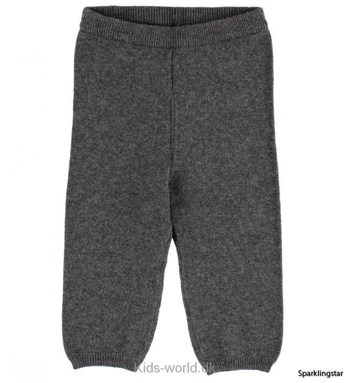 Wheat Knit Trousers Dark Melange Grey