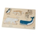 Sebra Wooden Chunky Puzzle Arctic Animals - Sebra Wooden Chunky Puzzle Arctic Animals
