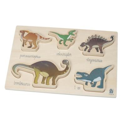 Sebra Wooden Chunky Puzzle Dino - Sebra Wooden Chunky Puzzle Dino