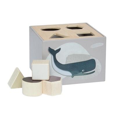 Sebra Wooden Shape Sorter Arctic Animals - Sebra Wooden Shape Sorter Arctic Animals