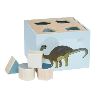 Sebra Wooden Shape Sorter Dino - Sebra Wooden Shape Sorter Dino
