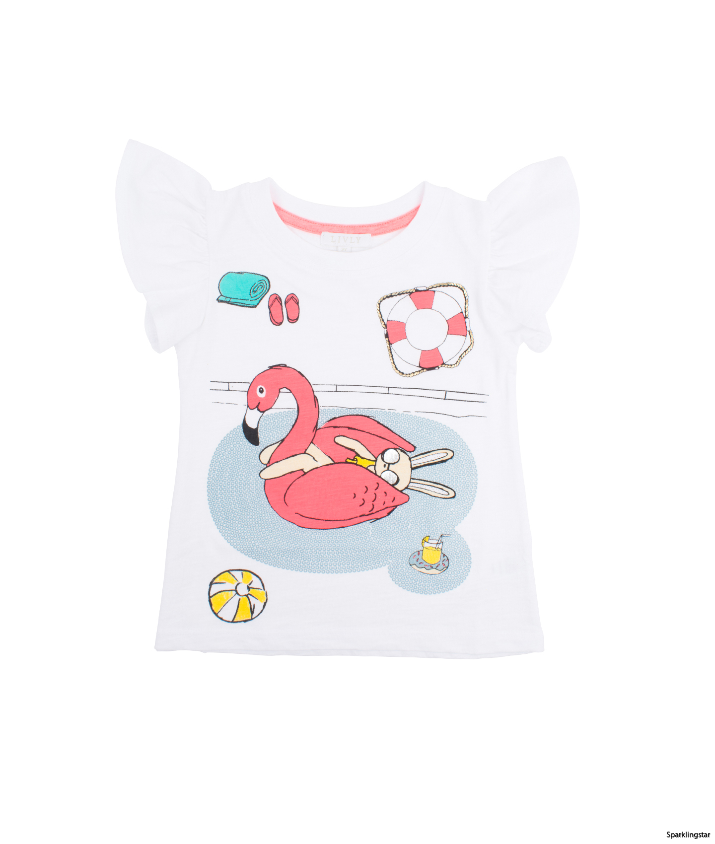 Livly T-shirt Flamingo