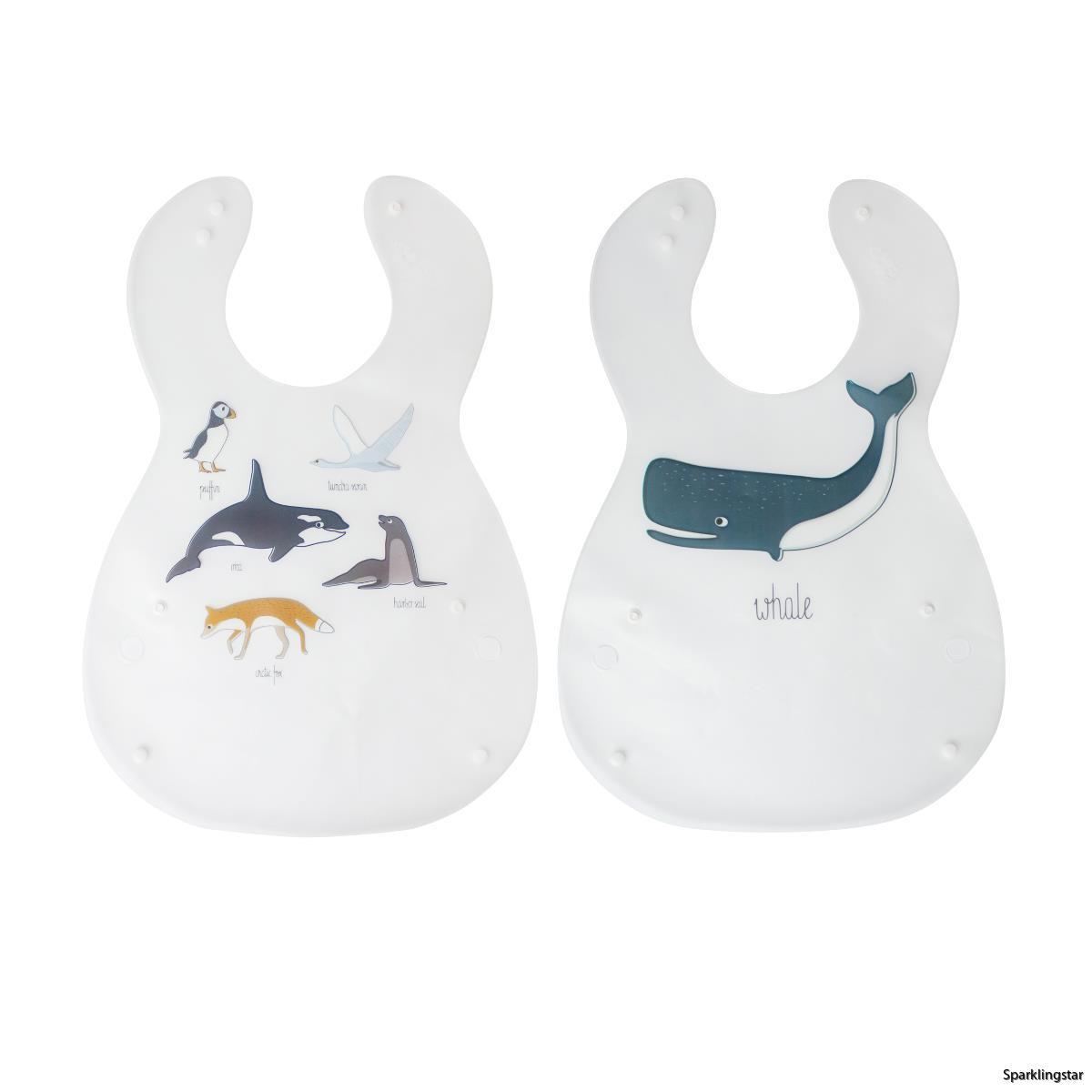 Sebra Arctic Animals Haklapp 2 Pack