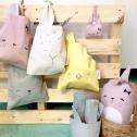 Fabelab Lunch Bag Rosa Mauve Bunny