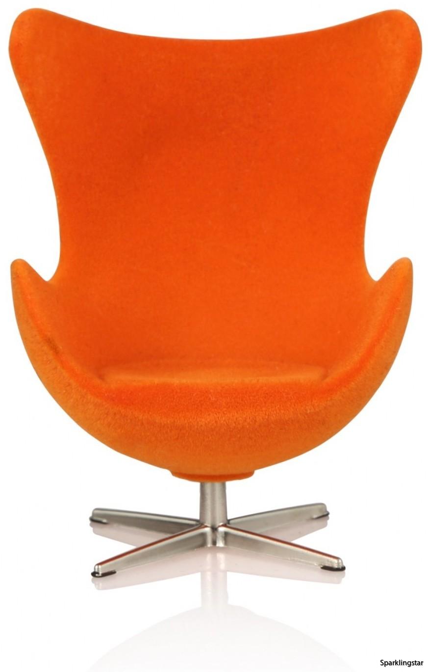 Minimii Arne Jacobsen Ägget Fåtölj Miniatyr ( Orange )