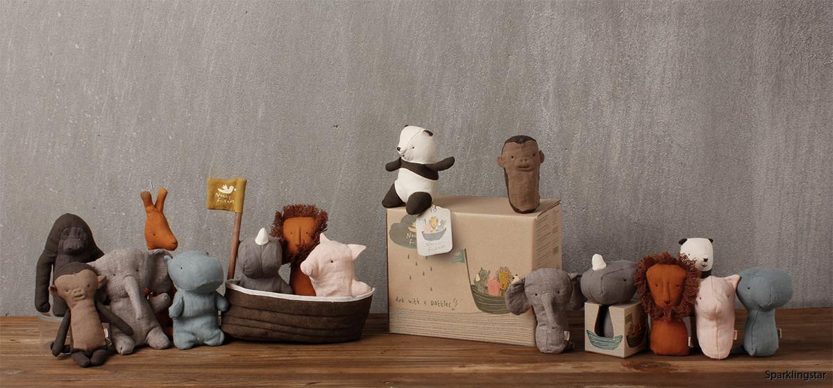 Maileg Noahs Ark With 3 Mini Animals