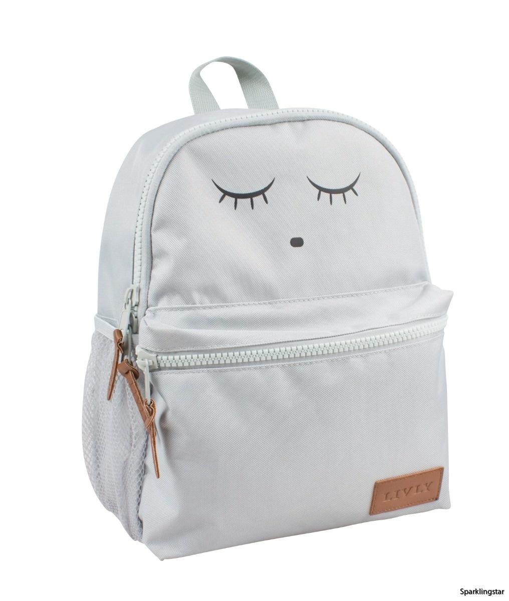 Livly Backpack Grey Sleeping Cutie