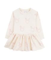 Livly Bunny Sweatshirt Dress Cream / Lavender