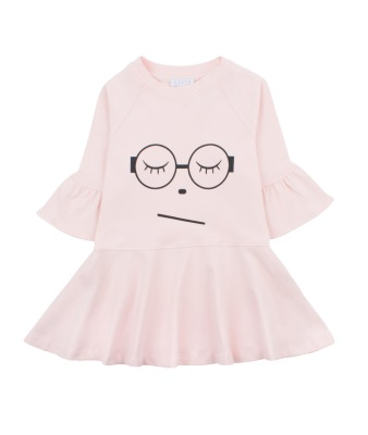 Livly Sleeping Cutie Glasses Ella Dress Baby Pink - Livly Sleeping Cutie Glasses Ella Dress Baby Pink ( Storlek 6 år )