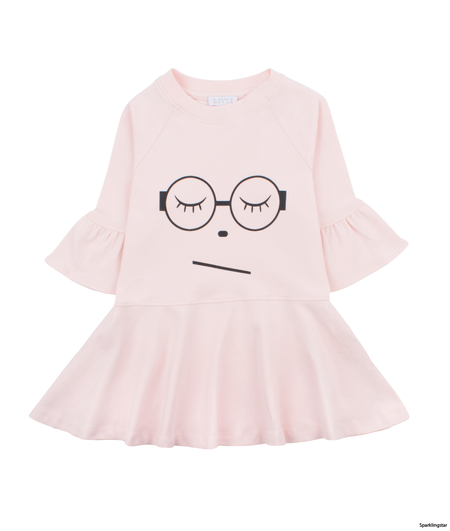 Livly Sleeping Cutie Glasses Ella Dress Baby Pink