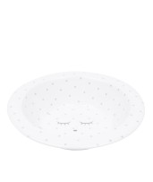 Livly Bowl White / Silver Dots
