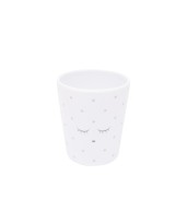 Livly Cup White / Silver Dots