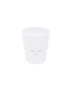 Livly Cup White / Silver Dots - Livly Cup White / Silver Dots