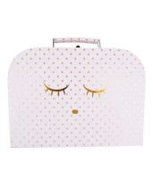 Lively Sleeping Cutie Trunk Medium Pink Gold Dots