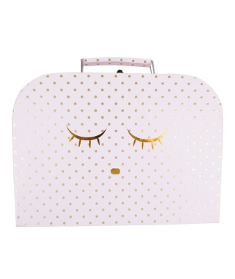 Lively Sleeping Cutie Trunk Small Pink Gold Dots - Lively Sleeping Cutie Trunk Small Pink Gold Dots