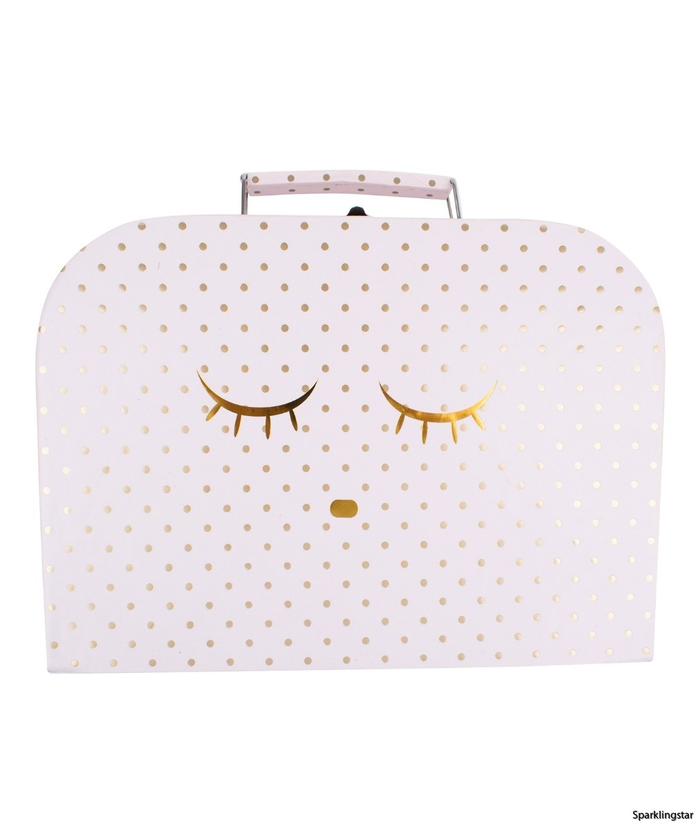 Lively Sleeping Cutie Trunk Small Pink Gold Dots