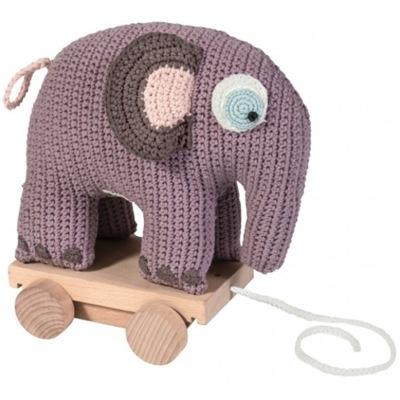 Sebra Dragdjur Virkad Elefant Lila - Sebra Dragdjur Virkad Elefant Lila