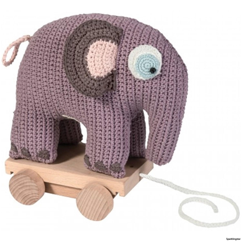 Sebra Dragdjur Virkad Elefant Lila