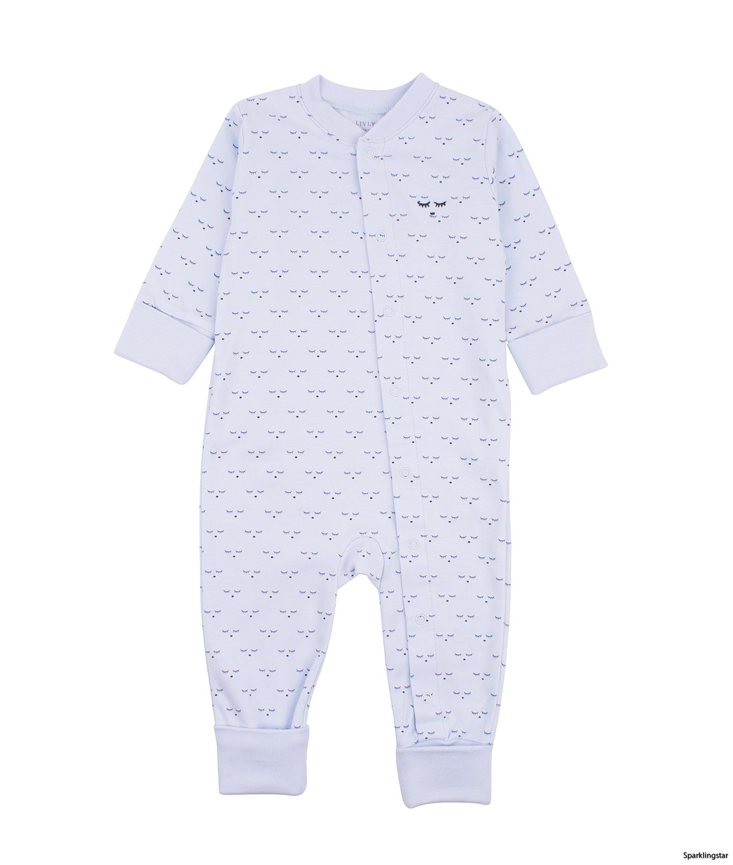 Livly Mini Sleeping Cutie Overall Baby Blue