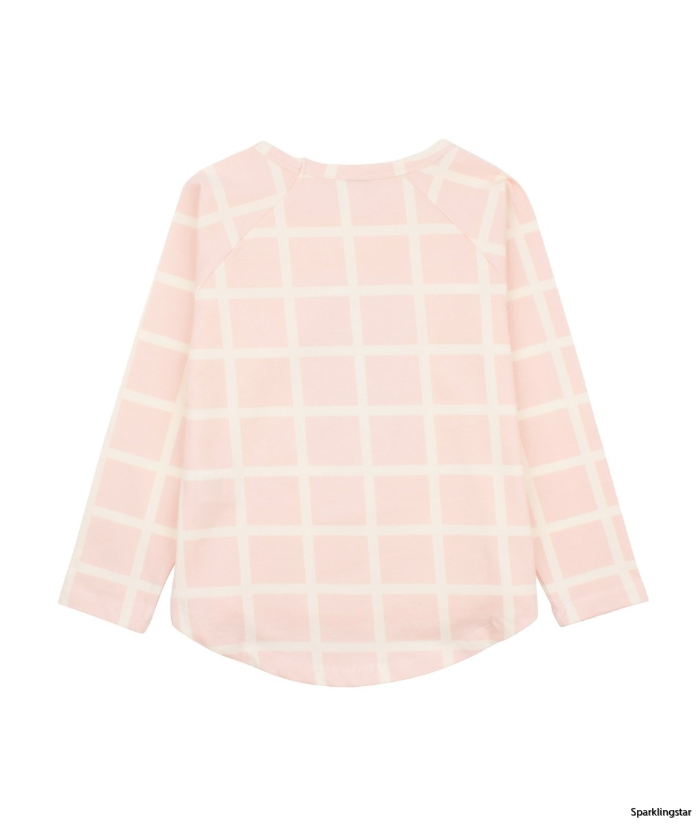 Livly Ivory Squares Long Sleeve Shirt