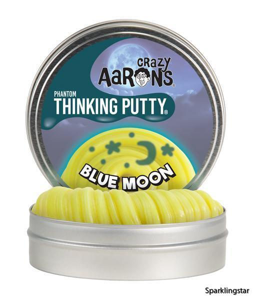 Crazy Aarons Thinking Putty Phantom  Blue Moon | Phantom Thinking Putty Blue Moon | Phantom Thinking Putty Blue Moon | Phantom Thinking Putty Blue Moon