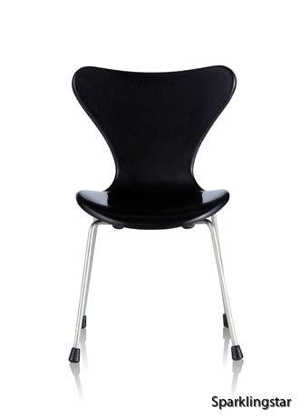 Minimii Arne Jacobsen Sjuan Stol Miniatyr Black