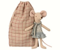 Maileg Winter Mouse Big Sister In Bag