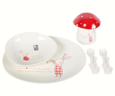 Maileg Bunny Honey Melamine Set 6 Parts - Maileg Bunny Honey Melamine Set 6 Parts