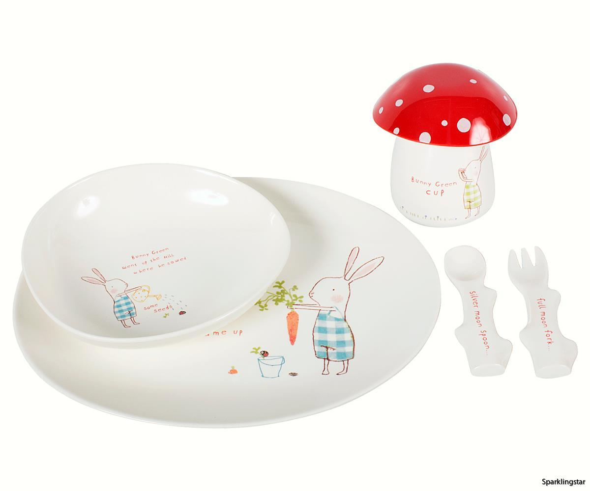 Maileg Bunny Green Melamine Set 6 Parts