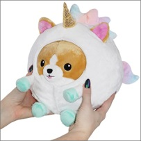 Squishable Undercover Corgi in Unicorn suit