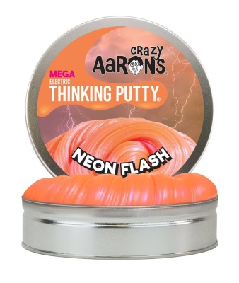 Crazy Aarons Thinking Putty Neon Flash Mega - Crazy Aarons Thinking Putty Neon Flash Mega