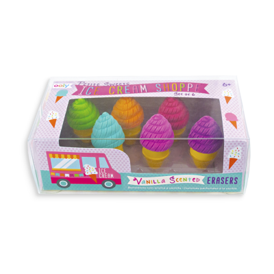 Ooly Petite Sweets Ice Cream Erasers - Ooly Petite Sweets Ice Cream Erasers
