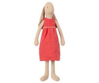 Maileg Bunny Medium Red Dress