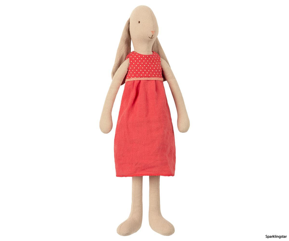 Maileg Bunny Size 3 Red Dress